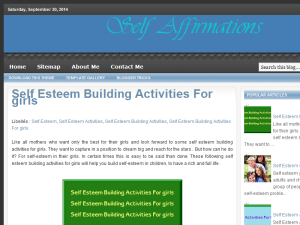 Self Affirmations Blogging Fusion Blog Directory