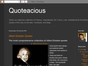 Quoteacious Blogging Fusion Blog Directory