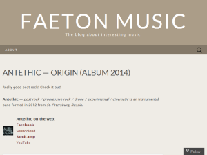 The blog about interesting music Blogging Fusion Blog Directory