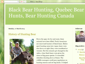 Black Bear Hunting Guides and Trips Blogging Fusion Blog Directory