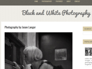 Black and White Photography Blogging Fusion Blog Directory