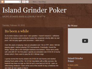 The Island Grinder Blogging Fusion Blog Directory