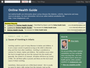 Online Health Guide Blogging Fusion Blog Directory