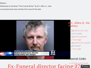 Funeral News Around The Web Blogging Fusion Blog Directory