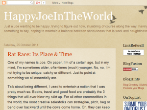 HappyJoeInTheWorld Blogging Fusion Blog Directory