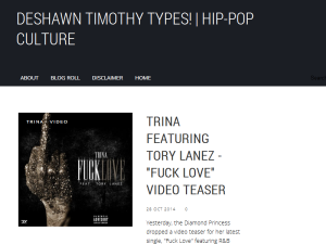 DeShawn Timothy Types! Blogging Fusion Blog Directory