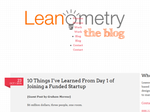 The Leanometry Blog Blogging Fusion Blog Directory