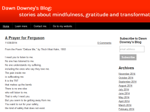 Dawn Downey's Blog: Stories About Mindfulness, Gratitude, and Transformation