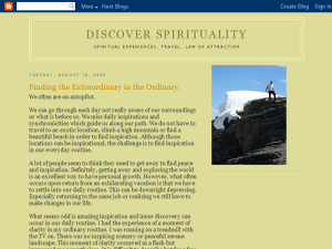Discover Spirituality Blogging Fusion Blog Directory