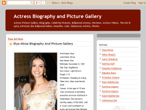 Actress Biography and Picture Gallery