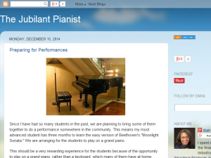 The Jubilant Pianist Blogging Fusion Blog Directory