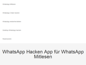 WhatsApp Hacking Apps