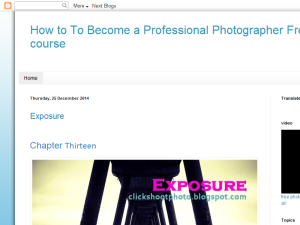 How To Become a Professional Photographer Free course Blogging Fusion Blog Directory