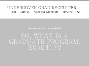 Undercover Grad Recruiter Blogging Fusion Blog Directory