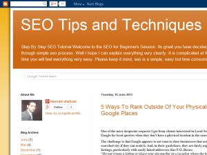 SEO Tips and Techniques Blogging Fusion Blog Directory