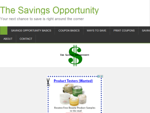 The Savings Opportunity Blogging Fusion Blog Directory