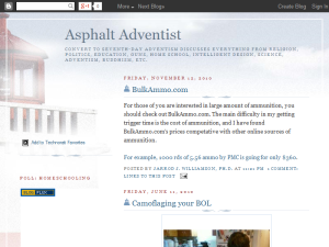 Asphalt Adventist Blogging Fusion Blog Directory