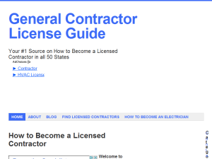 General Contractor License Requirements Blogging Fusion Blog Directory