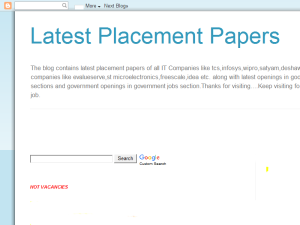 Latest placement papers