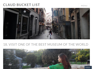 Claud Bucket List