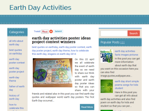 Earth Day Activities Blogging Fusion Blog Directory