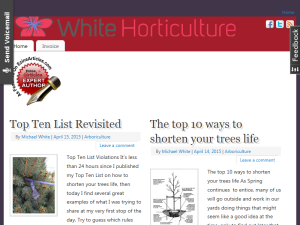 White Horticulture Blogging Fusion Blog Directory