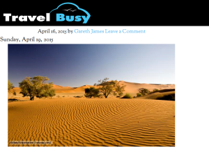 Travel Busy Blogging Fusion Blog Directory