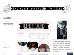 The World According To Kelli Blogging Fusion Blog Directory