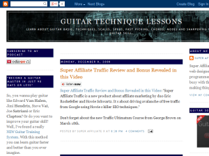 Guitar Technique Lessons Blogging Fusion Blog Directory