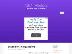 Ask An Alcoholic Blogging Fusion Blog Directory