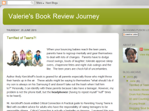 Valerie's Book Review Journey Blogging Fusion Blog Directory