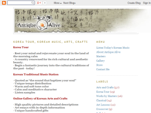 Korean Traditional Music Blogging Fusion Blog Directory