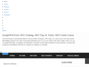 GoogleWebTech: SEO Crash Course, SEO Tips and Tricks, Free SEO Training