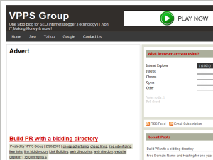 VPPS Group Blogging Fusion Blog Directory