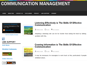Communication Management Blogging Fusion Blog Directory
