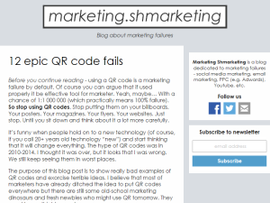 Blog about marketing failures - Marketing Shmarketing