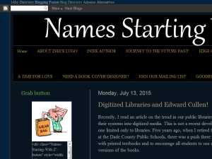Names Starting with 'Z' Blogging Fusion Blog Directory