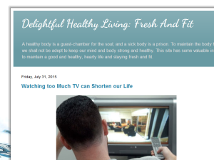 Delightful Healthy Living: Fresh And Fit Blogging Fusion Blog Directory