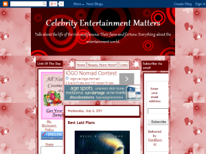 Celebrity Entertainment Matters Blogging Fusion Blog Directory