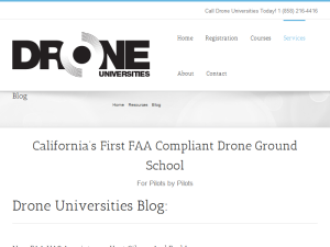 Drone College News/Articles from Drone Universities Blogging Fusion Blog Directory