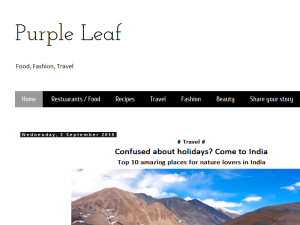 Purple Leaf Blogging Fusion Blog Directory