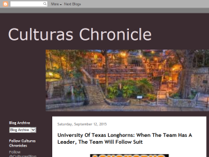 Culturas Chronicle Blogging Fusion Blog Directory
