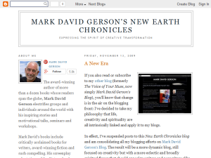 Mark David Gerson's New Earth Chronicles Blogging Fusion Blog Directory