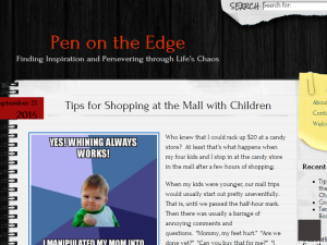 Pen on the Edge Blogging Fusion Blog Directory