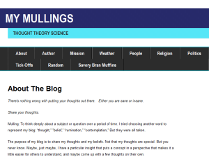 My Mullings Blogging Fusion Blog Directory