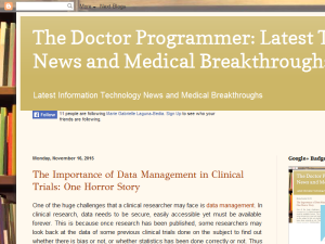 The Doctor Programmer Blogging Fusion Blog Directory