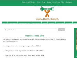 Healthy Foods Blog Blogging Fusion Blog Directory