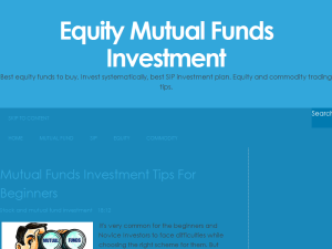 Equity Mutual Funds Investment