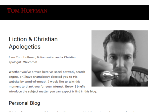 Tom Hoffman | Fiction & Christian Apologetics Blog Blogging Fusion Blog Directory