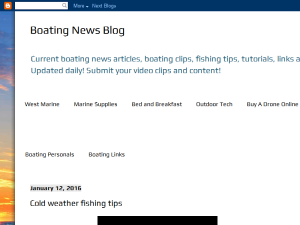 Boating News Blog Blogging Fusion Blog Directory